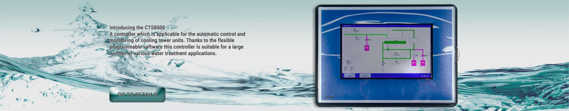 E.W.S. presents a new cooling tower water treatment controller: CTS8000
