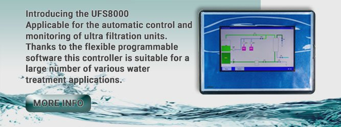 E.W.S. presents a new ultrafiltration water treatment controller: UFS8000